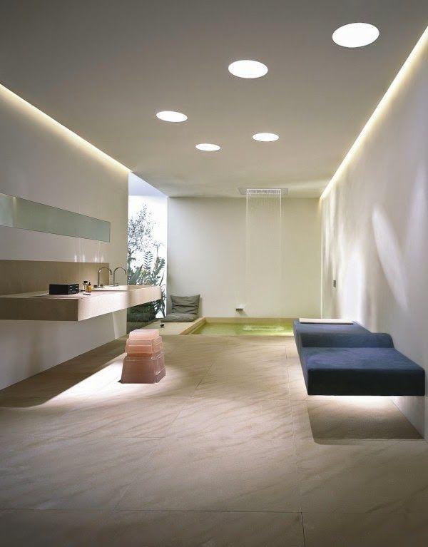 make a false ceiling with bathroom spot decor color ideas ...