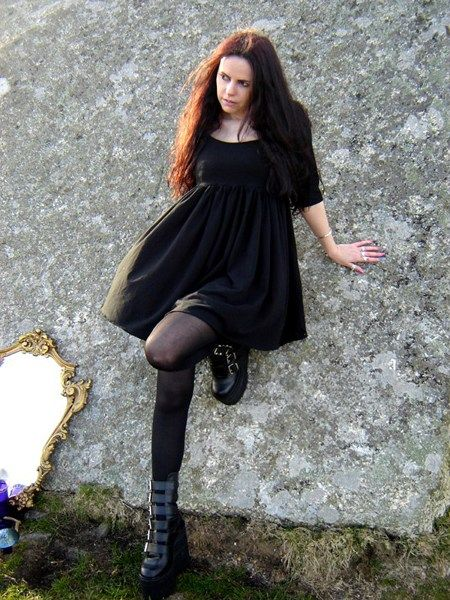 Cotton Babydoll Mini Dress by Moonmaiden Gothic Clothing UK ( Get your goth on with gothic punk clothing - a favorite repin of www.vipfashionaustralia.com )