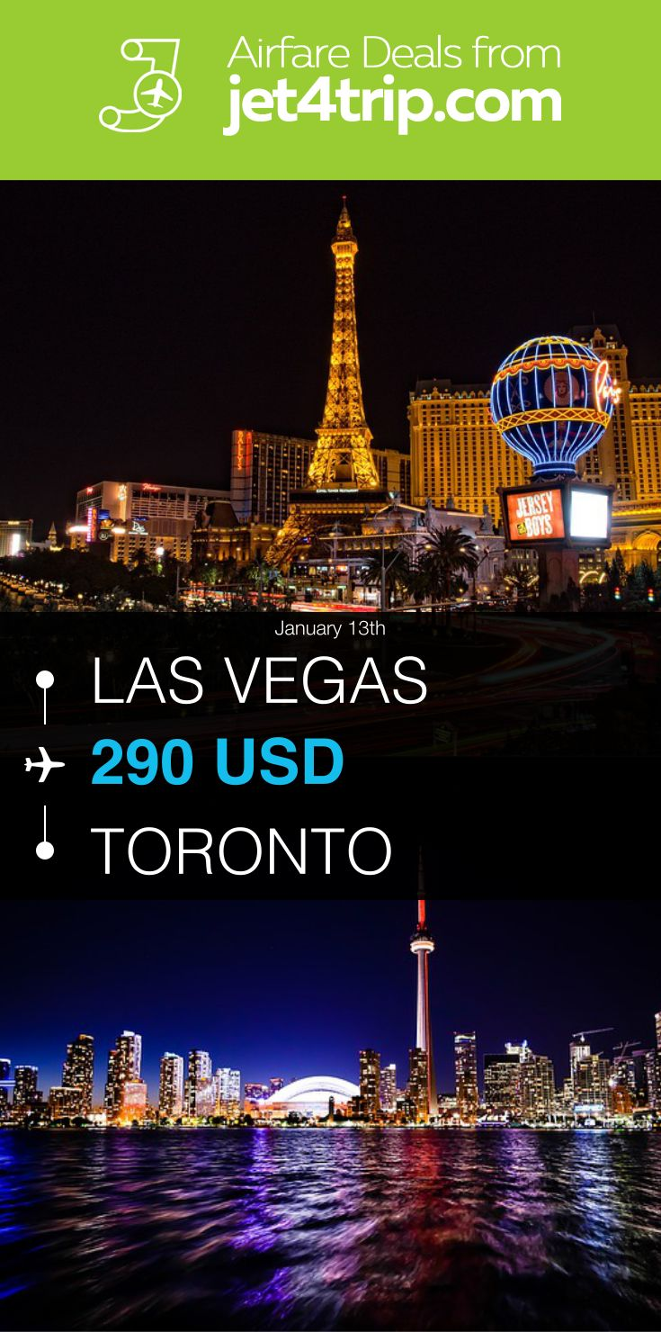 Flight And Hotel Packages To Vegas From Toronto