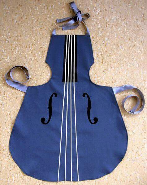 a little night music apron in shape musical instrument - Cooking Aprons