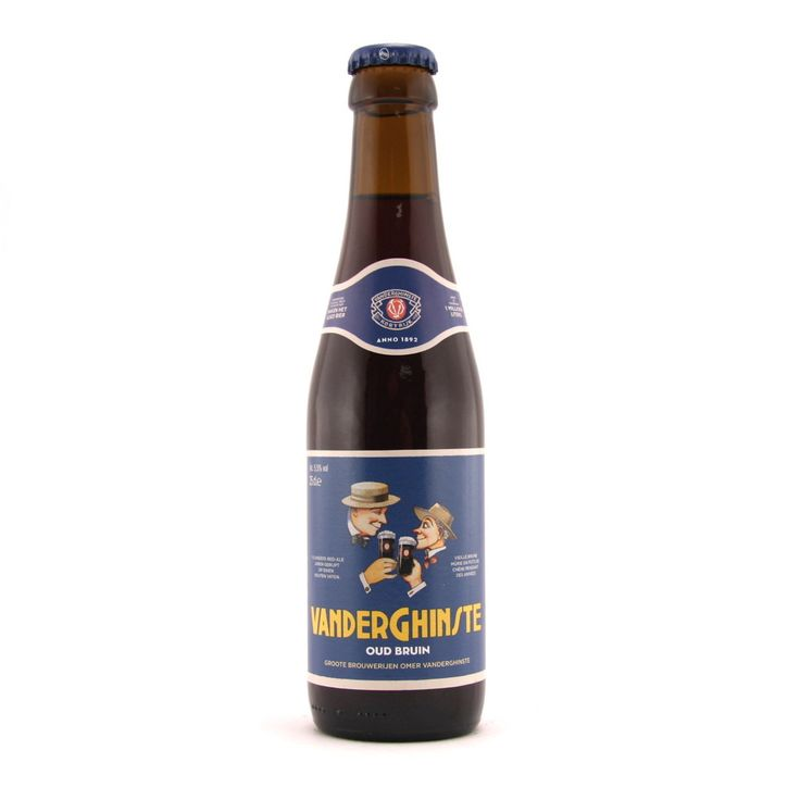 "Vanderghinste Oud Bruin 25cl Vanderghinste Oud Bruin is a mixed fermentation beer. This type of beer is typical for the Southwest of Flanders, and it is also referred to as ""sour ale/wild ale"" or ""oldbrown"". The name Vanderghinste Oud Bruin is quite new, the beer used to be called ""Bellegems bruin"".  The beer is a mix of top fermented brown beer with 18 month old oak-aged lambic. It has a well-balanced flavor, it is a bit sour wit a slightly bitter aftertaste. It has an alcohol content of…"
