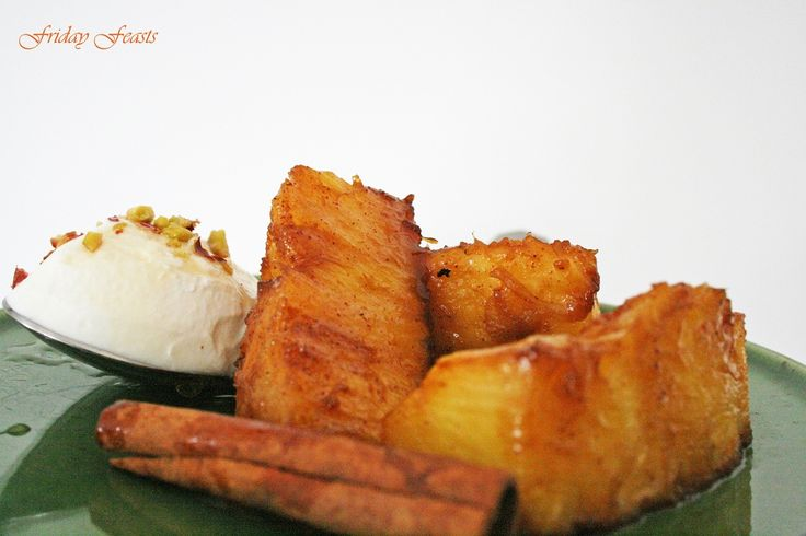 Roasted Pineapple with Cinnamon & Muscovado Sugar Recipe  http://2via.me/KmCPL9pD11