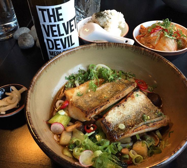 Restaurant Masu Asian cuisine The Velvet Devil red wine