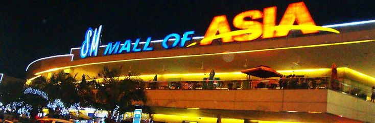SM Mall Of Asia Manila - SM Mall Of Asia Directory Manila  Welcome to SM Mall Of Asia, in Manila, Philippines!  When it comes to shopping malls in the Philippines this one tops them all with over 400 stores and restaurants to choose from this is a true shoppers mecca. When visiting this mall make sure you allow plenty of window shopping time to browse through the more than 1 hector mall complete with ice skating rink!