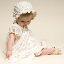Baby Beau & Belle Louisa Romper Dress Set - Romper Dress & Bonnet