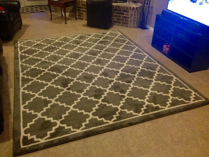 My new 8x10 area rug from Home Depot. It's so plush and soft!!