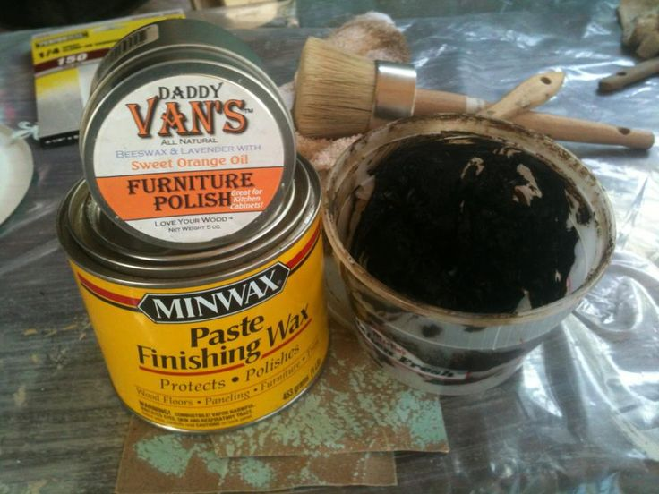 wax or polycrylic over painted furniture or chalked furniture