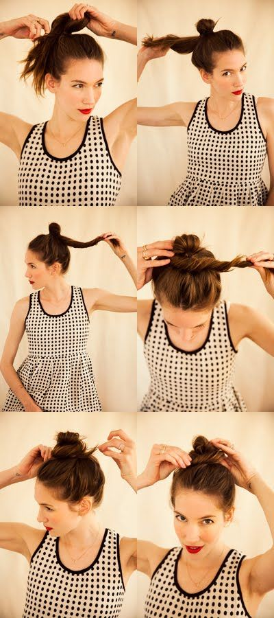 A CUP OF JO: How to do a top knot