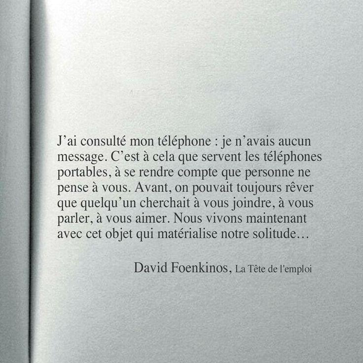 """David Foenkinos """"La Tête de l'emploi"""""""