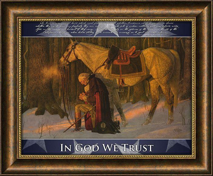 Carpentree In God We Trust Patriotic Artwork Includes The
