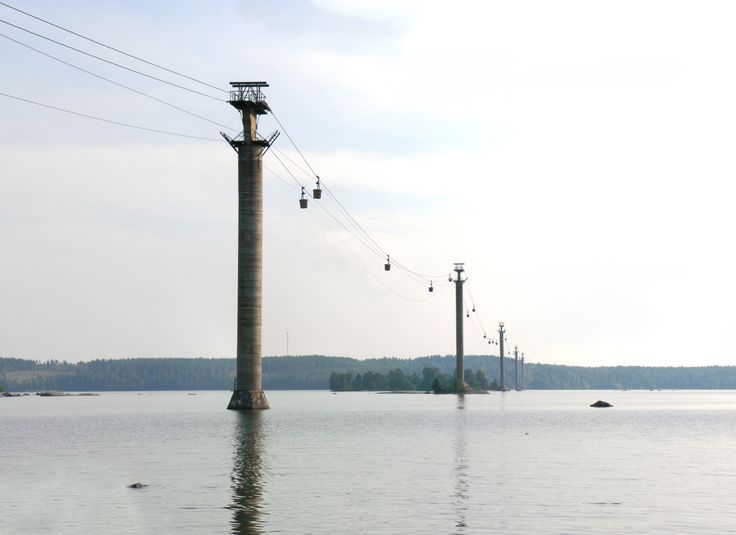 All sizes | Cableway crossing lake Hjälmaren | Flickr - Photo Sharing!
