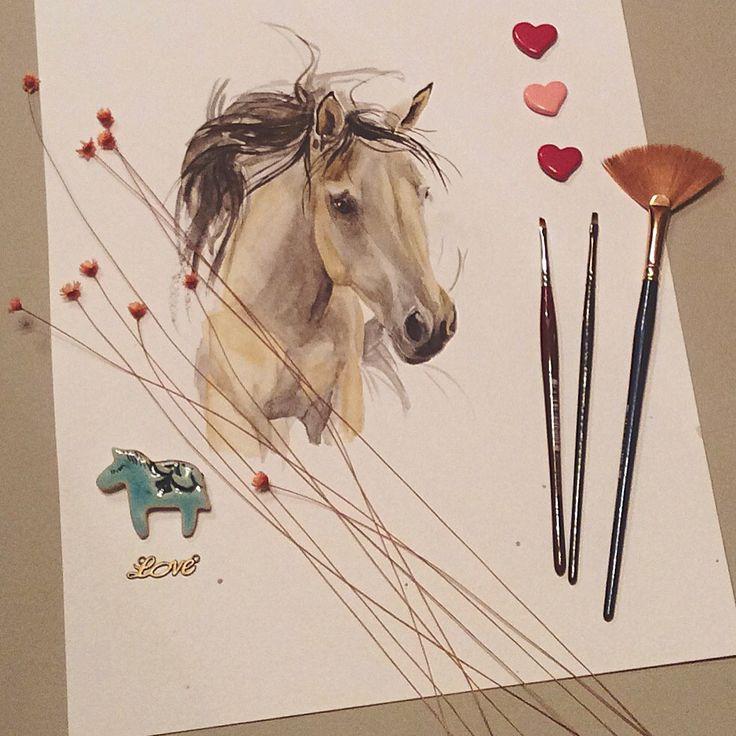 #watercolor #sketch #horse #art #topcreator