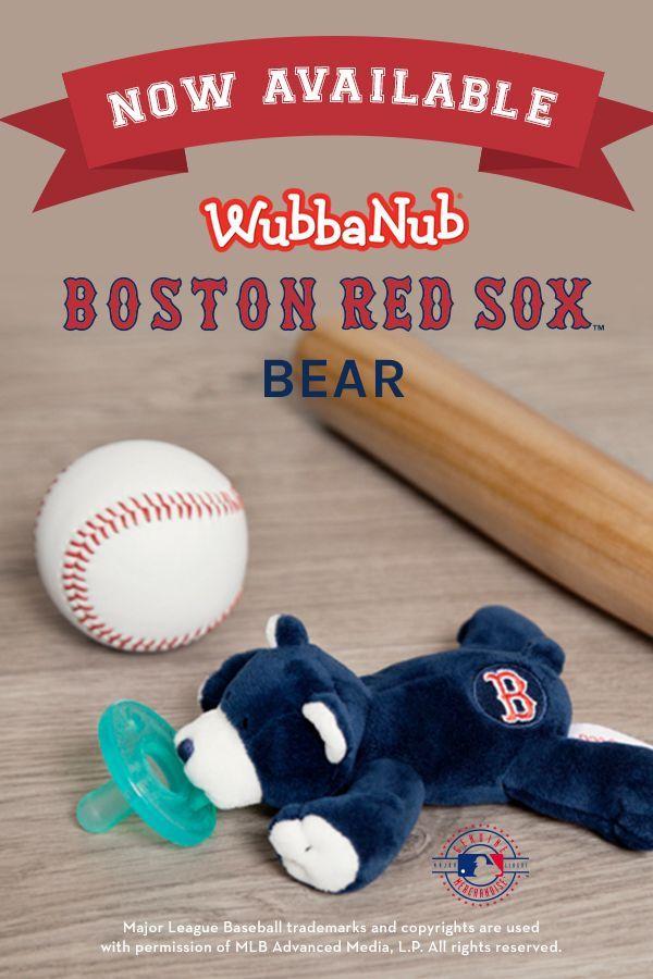 e5fb3c981 WubbaNub Infant Pacifier Boston Red Sox™ Bear   wubbanub love   Wubbanub  pacifier, Boston red sox, Bear