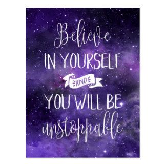 Believe In Yourself Quote Postcard