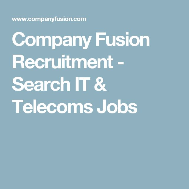 Company Fusion Recruitment - Search IT & Telecoms Jobs