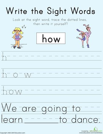 Write the Sight Words: \ | Sight Words, Worksheets and Sight Word ...