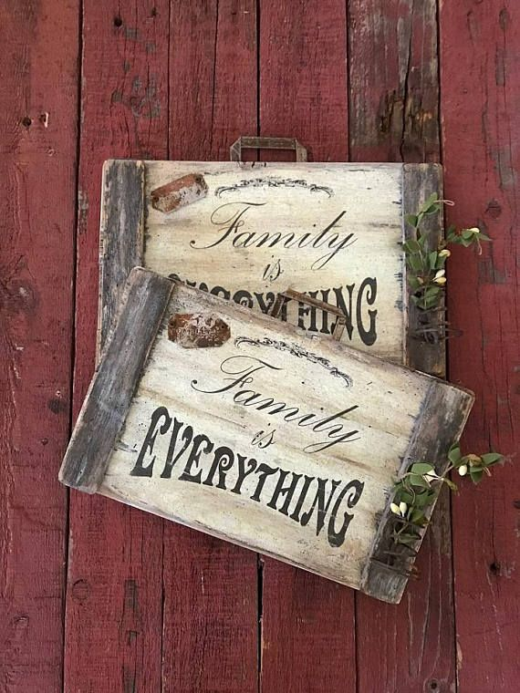 Rustic Family Is Everything Weathered Wood Sign Old Wood