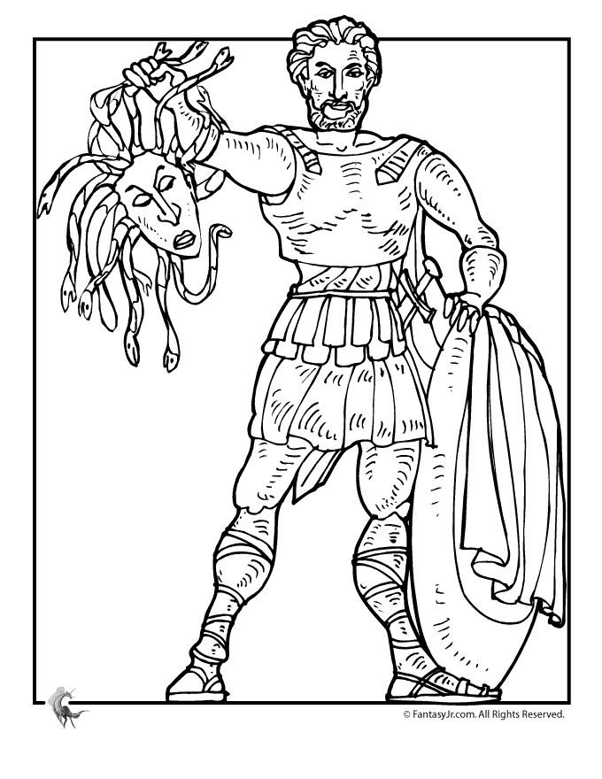 Cartoon Greek Gods Coloring Pages