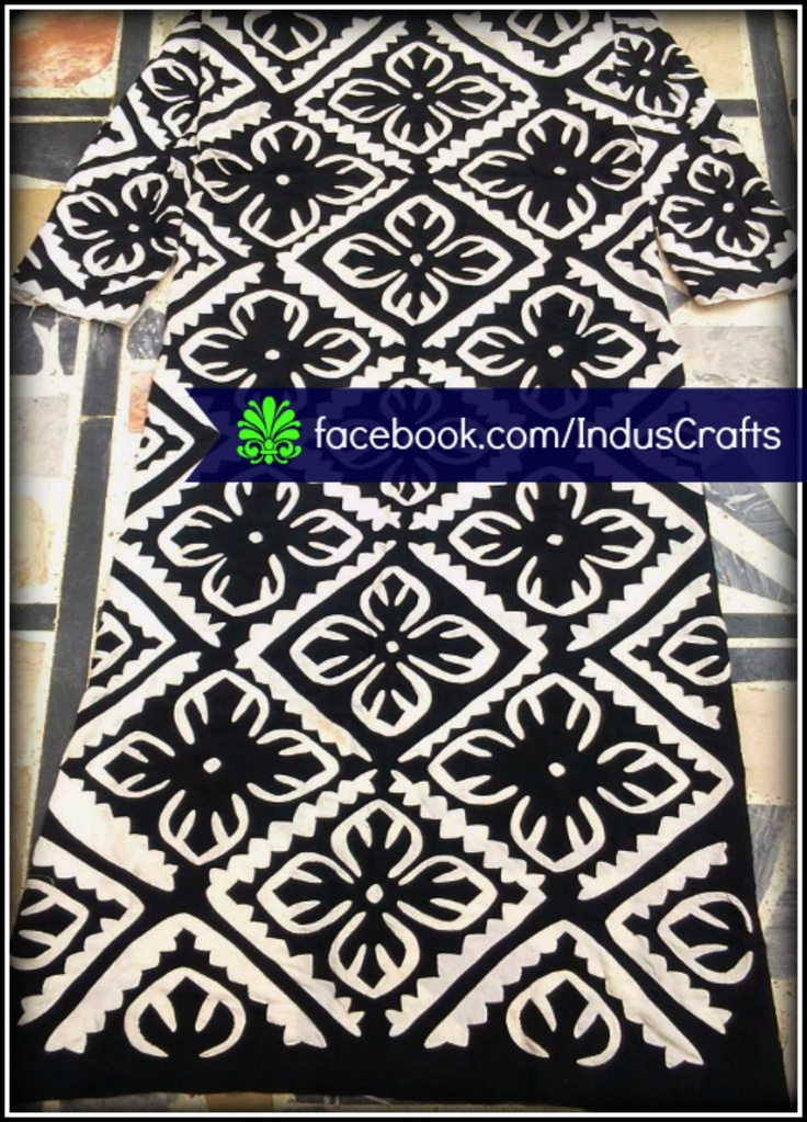 RC0016 - Rilli Shirt material (48 x 26 inches) for dress designers. This handmade reverse applique work is exclusively done for Indus-Crafts.com by the women artisans of rural Sindh (Pakistan). Checkout more designs at our FB page.