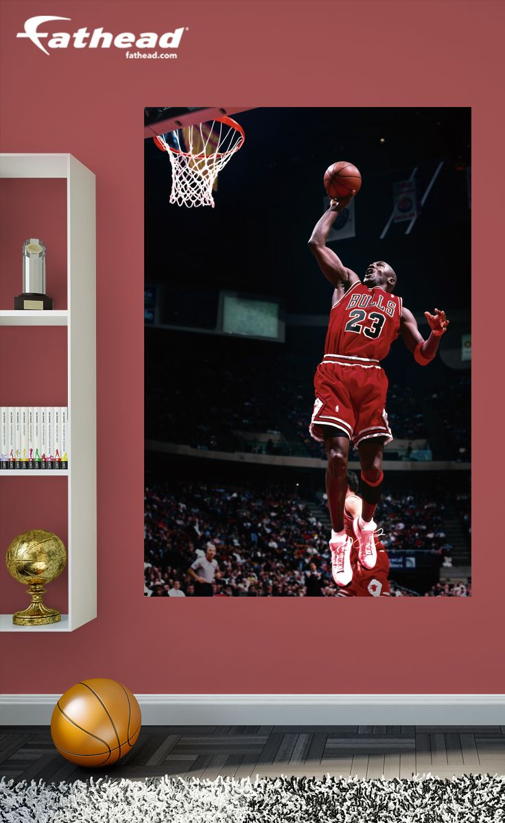 competitive price 2ed7e 9b2ca Pin by Shannon Hughes on Fatheads Decals in 2019   Chicago bulls, Diy  bedroom decor, Nba