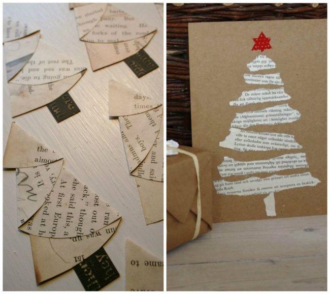 18 Πανέμορφες Ιδέες για Χριστουγεννιάτικες Κάρτες που Μπορείτε  να Φτιάξετε σε Λίγα Λεπτά.
