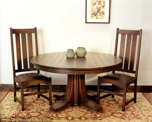Arts And Crafts Dining Table Chairs