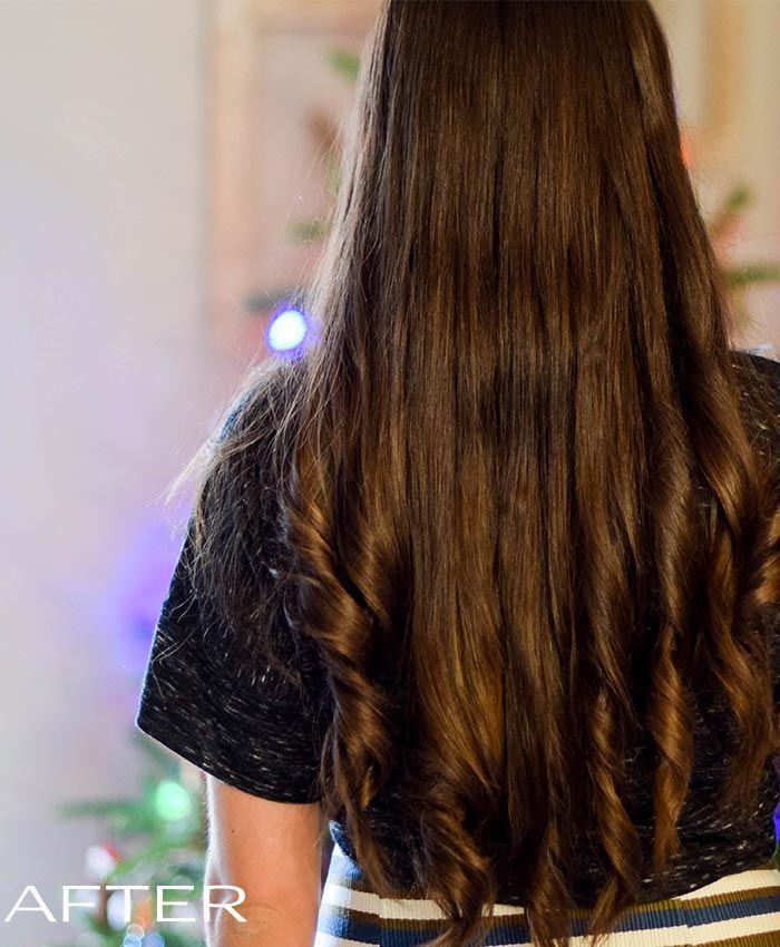 Beautiful dark hair result with NATURIGIN hair colour. See full review at http://www.naturigin.com/natural-home-hair-colour-review-natalie/