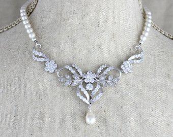 Bruids ketting kristal ketting bruids juwelen door TheExquisiteBride