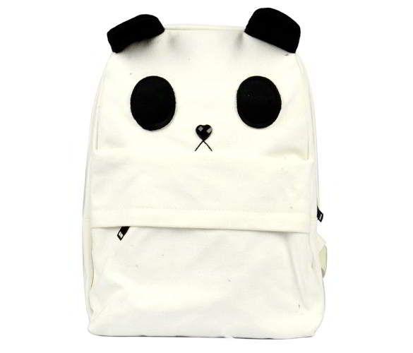 Lovely White Panda Canvas With A Small Panda General | Tas Punggung | gudangaksesorisimport.com Grosir Fashion Termurah dan Terbesar di Indonesia
