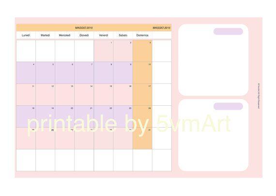 Planner mensile per personal