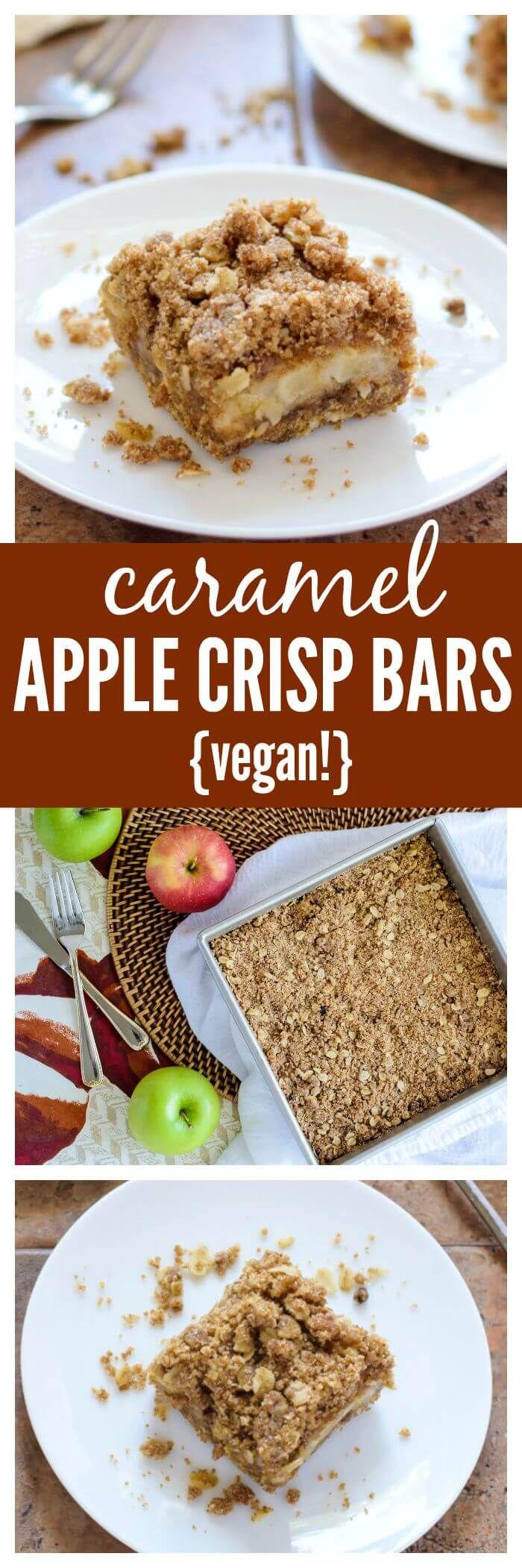 Karamell Apfel Crisp Bars. Ooey gooey Karamell-Apfel-Riegel mit Zimtstreusel …   – FOOD&BAKING