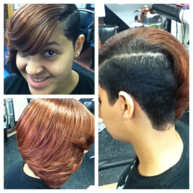 Partial Quick Weave With Cut Hair Etc By Vee Hair