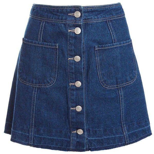 Sans Souci Frayed hem a-line mini skirt (£26) ❤ liked on Polyvore featuring skirts, mini skirts, bottoms, denim, sans souci, short blue skirt, short skirts, a line mini skirt and a-line skirt