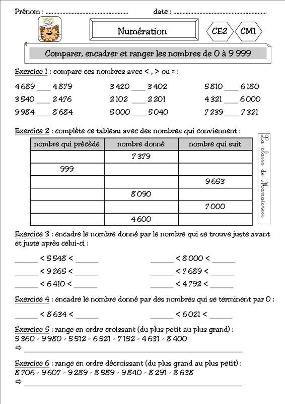les mieux notés profiter de la livraison gratuite tout à fait stylé Numération et addition CE2/CM1 - La classe de Mamaicress ...