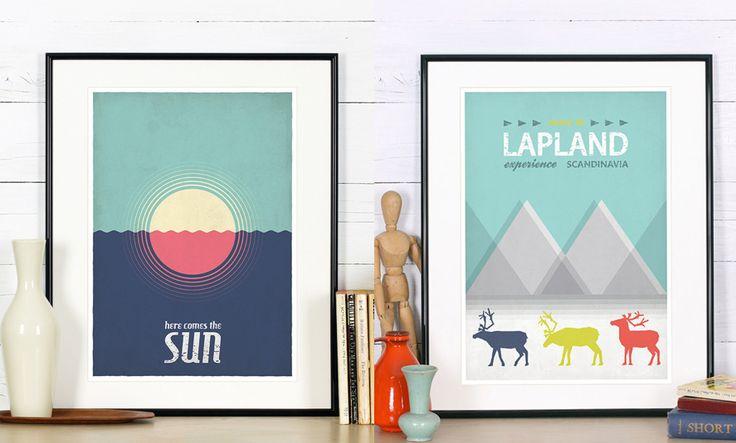 affiche déco style scandinave poster vintage rétro tourisme où acheter trouver