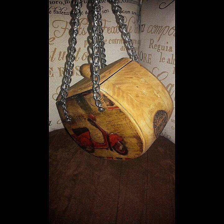 diy wood woman bag