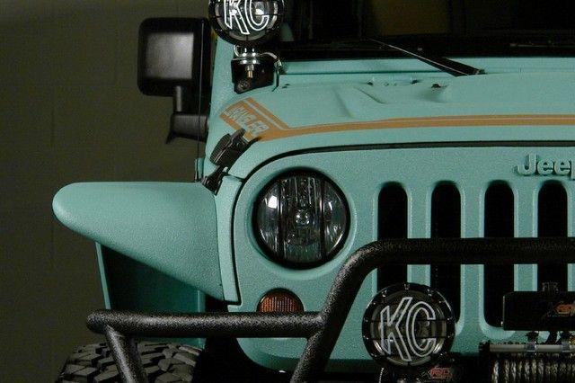 2013 Jeep Wrangler Paddleboard Green Kevlar