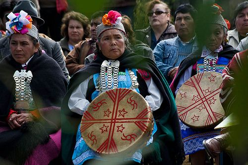 Mapuche -meaning Earth People, of South America are shaman women called Machi and mostly women