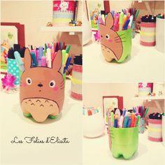 """Il me manquais de la place pour mes gelpens, alors en suivant les pas du tuto précédent, me voilà avec mon pot """"Totoro"""" ^____^"""