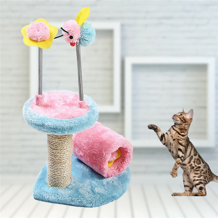 Pet Toys Cat Climbing Frame and Scratch Board Cat Holding Pillar Jumping Platform  Climbing Tree Grinding Claws with Observatory #Affiliate