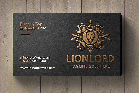 Lion Lord Logo by tkent on @creativemarket