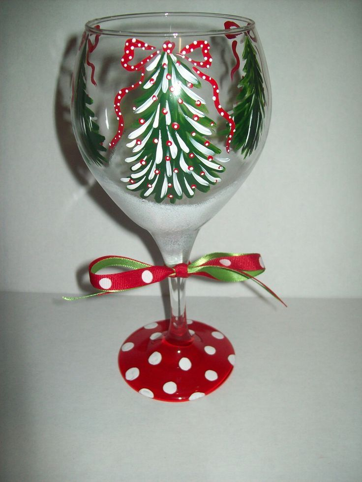 41 best painted glass winter images on pinterest for Holiday wine glass crafts