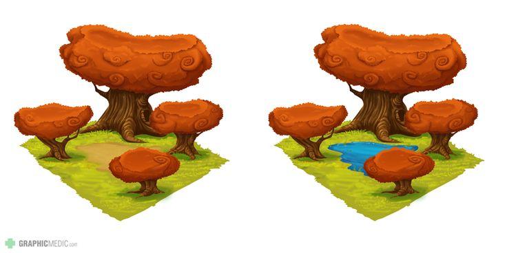 Tree hatchery illustration
