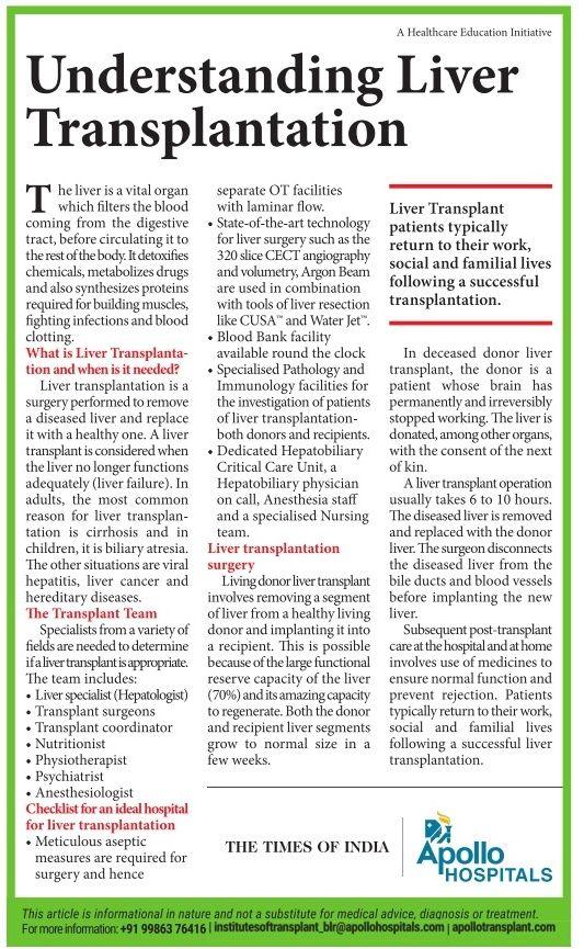 Understanding Liver transplantation