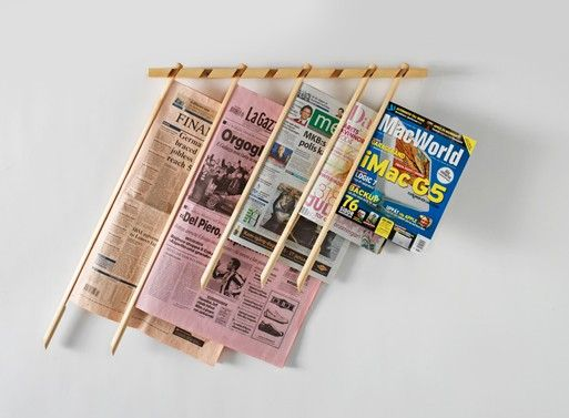 Newspaper Stand Designs : Best images about wall mount magazine racks on