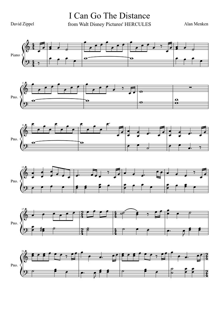 I Can Go The Distance | MuseScore.com