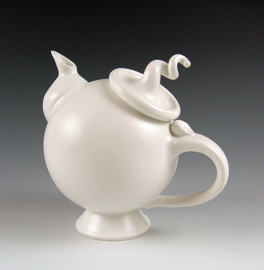 Ceramic Teapot  Created by Lilach Lotan  Wheel-thrown and hand-built glazed porcelain teapot.