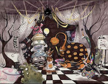 braxton and yancey tim burton inspired home dcor in 3 style stories gothic - Tim Burton Halloween Decorations