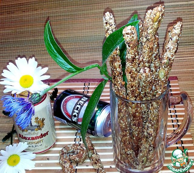 Остро-солёные палочки к пиву