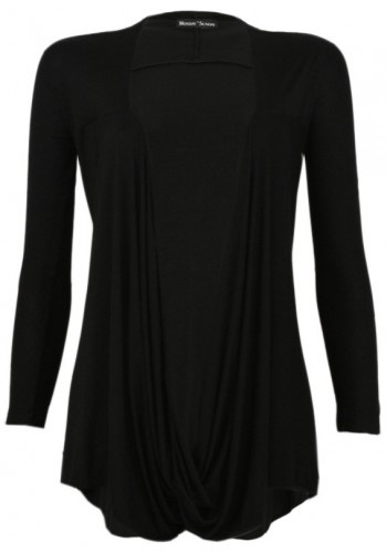Jersey Cardigan in Black by Monday to Sunday